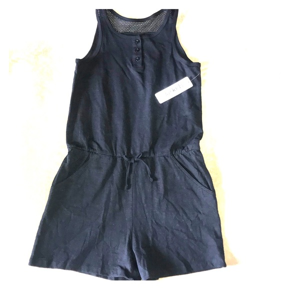 fabkids Other - Fab Kids Black romper size 14 for girls NWT
